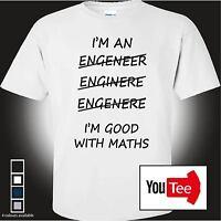 Engineer tshirt funny t-shirt mens student custom novelty gift work mechanic tee