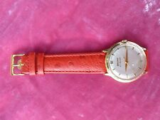 14K SOLID GOLD 23 JEWEL MID CENTURY AUTOMATIC BULOVA DRESS WATCH