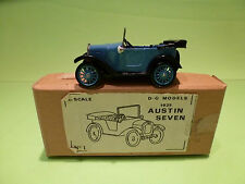 D.G MODELS  AUSTIN SEVEN 1925  DAVE GILBERT   1:43  - IN BOX  - GOOD CONDITION