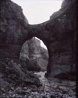 Algérie Constantine Arc en pierre Paysage Artistique c1900 NEGATIF Photo Plaque