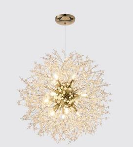 Modern LED Chandelier Pendant Creative Dandelion Lamp Foyer Ceiling Lighting