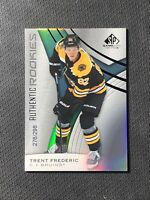 2019-20 SP GAME USED TRENT FREDERIC AUTHENTIC ROOKIE RAINBOW FOIL #ed 276/298