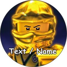 Lego Ninjago Gold Master Eßbar Tortenaufleger NEU Party Deko personalisiert dvd