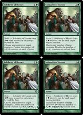 4x SOLIDARITY OF HEROES Journey into Nyx MTG Green Instant Unc