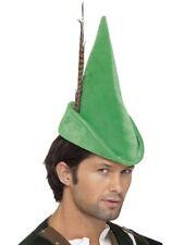 Smiffys Green Robin Hood Peter Pan Hat Adults Book Day Mens Ladies Fancy Dress