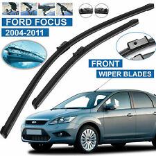 "FORD FOCUS MK2 2004-2011 FLAT AERO FRONT WINDSCREEN WIPER BLADES 26"" 17"" Inches"