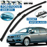 "FORD FOCUS MK2 2004-2011 FLAT AERO FRONT WINDSCREEN WIPER BLADES 26"" 17"" Inches"