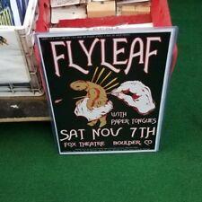 Flyleaf Poster 2000'S Vintage 11 X 17 In Top Loader Concert Board