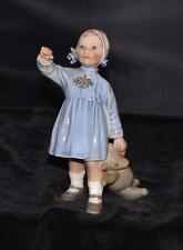 Vintage Dahl Jensen / Royal Copenhagen Figurine -Girl with Teddy Bear#1152 -MINT