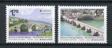 Bosnia & Herzegovina Serbia Admin 2018 MNH Bridges Europa Bridge 2v Set Stamps