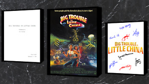 Big Trouble In Little China Script/Screenplay Movie Poster Autograph Print