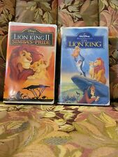 The Lion King And The Lion King Ii Vhs Tapes, 1994, Cases Are A Little Tattered