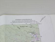 Vintage USGS Topo. Map_Pisgah Nat.Forrest, N.C_Rosman Quadrangle_(1945/Rev 1990)