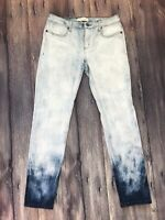 Henry & Belle Super Skinny Ankle Jeans Size 29 Blue Tie Dye Stretch