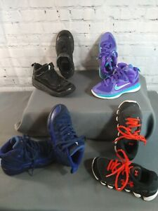 GUC lot of 4 boy's NIKE, AIR JORDAN & UNDER ARMOUR athletic shoes - SIZE 12