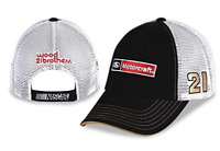 Ford Motorcraft NASCAR Trucker Mesh Back Wood Bros. Racing Hat #21 Ryan Blaney