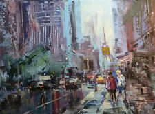 Original Painting by American Artist J.Jung / Cityscape# 0145LC_JJ19