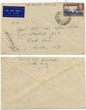 CEYLON RAF CO CANCEL 1942 AIRMAIL to GB CENSORED