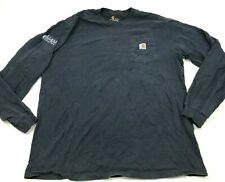 Carhartt Shirt Size Extra Large Tall XLT Long Sleeve Pocket Evans Construction T