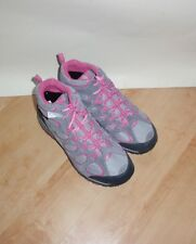 NEW Merrell womens waterproof grey and pink suede walking boots size UK 4 EU 36
