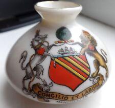 Goss Crested China Enamelled Manchester Crest Lion & The Unicorn