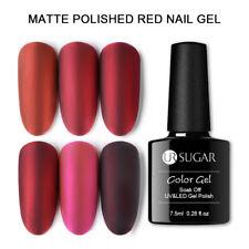 UR SUGAR 7.5ml Gel Polish Matte Red Silver Soak Off UV LED Gel Varnish Nail Art