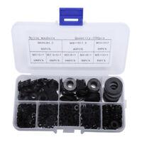 500pcs Black Nylon Washer M2-M10 Plastic Gasket Flat Ring M2 2.5 3 4 5 6 8 10