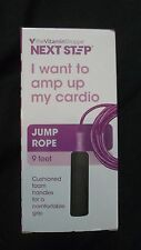 The Vitamin Shoppe Next Step 9 Foot Jump Rope With Cushioned Foam Handles