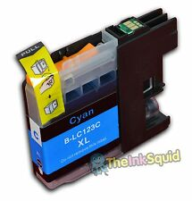 1 Cyan LC123 Ink Cartridge For Brother DCP752DW DCPJ4110DW MFCJ4410DW non-OEM