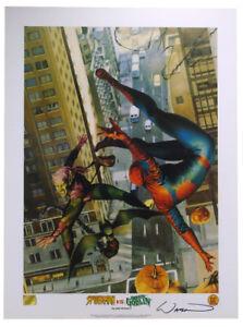 Spider-Man Versus Green Goblin Lithograph Signed by artist John Watson Marvel