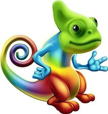 Chameleon EUNICELL Lot RAINBOW tie&dye AUTOCOLLANT graphique vinyle étiquette