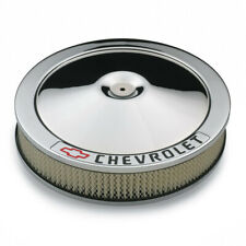 "Proform 141-906 Chrome Classic Chevrolet Logo 14"" Air Cleaner Assembly 3"" Filter"