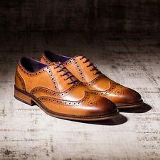 Eves & Gray Harvard Tan Men Leather Brogues Footwear Shoes In Size 9 RRP £220