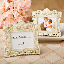 100 - Vintage Baroque Design Place Card Holder Picture Frame - Wedding Favors