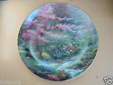 THOMAS KINKADE / AMCAL PORCELAIN DECORATIVE PLATE : POOLS OF SERENITY 108 / 2000