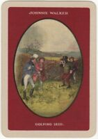 Playing Cards 1 Single Card Old Wide JOHNNIE WALKER Whisky Advertising GOLF Art