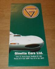 Dépliant GINETTA G27 / G33 /G34 / Classic 4 de 1995 anglais