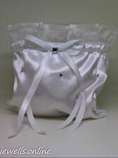 blanc strass demoiselle d'honneur communion Sac Bourse accessoires de mariage