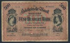 Sachsen Rosenbg: SAX7a stark gebraucht (IV) 1890 500 Mark (8087346