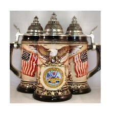 US Army Rustic German Beer Stein .75L One New Mug Made in Germany Vet Gift