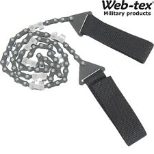 WEB-TEX WARRIOR SURVIVAL CHAIN SAW TOOL BUSHCRAFT SAFETY HEAVY DUTY