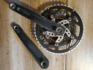Kooka Mountain Bike Crankset Anodized black rare 175mm Vintage Square Taper  USA