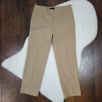 Talbots Women's Size 10 Dress Pants Classic Side Zip Straight Leg Beige Tan