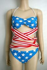"adidas ORIGINALS Jeremy Scott Womens ""Stars & Stripes"" Swimsuit(M)X30165"