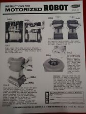 Remco lost in space robot Instructions