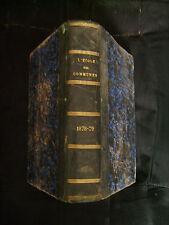 L'école des communes, revue administrative 1878 - 47ème année -Imp. P. Dupont