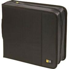 Case Logic CDW-208 Black Nylon CD Wallet-Holds 208 CD's or 104 w/notes