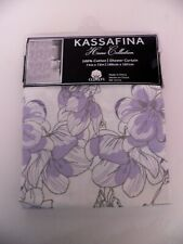 "Kassafina Home Collection Shower Curtain 100% Cotton 71"" x 72"" New"