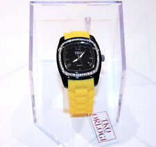 TKO ORLOGI Women's QUARTZ Watch YELLOW Rubber Strap CRYSTALLIZED Swarovski $135