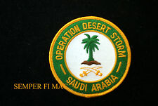 OPERATION DESERT STORM PATCH SAUDI ARABIA US ARMY NAVY AIR FROCE USCG MARINES